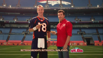 Papa John's TV Spot, '2 Million Free Pizzas' Featuring Peyton Manning - 163 commercial airings