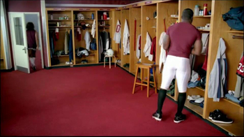 GEICO TV Spot, 'Cheerleader Caveman' Featuring Brian Orakpo - Thumbnail 7