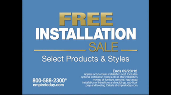 Empire Today Tv Commercial For Free Installation Sale