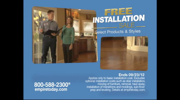 Empire Today TV Commercial for Free-Installation Sale - iSpot.tv