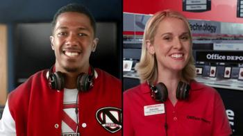 Office Depot TV Spot, 'Depot Time:Monster Headphones' Featuring Nick Cannon