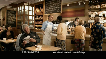 Constant Contact TV Spot '60 Days Free Email Marketing'