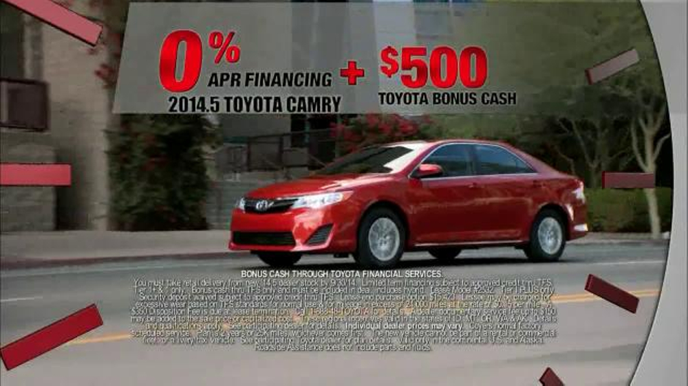2014 5 toyota camry tv commercial 39 last chance clearance 39. Black Bedroom Furniture Sets. Home Design Ideas