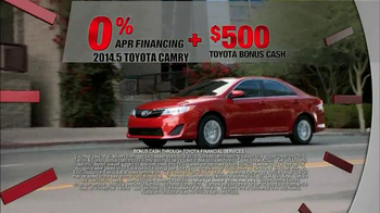 2014 5 toyota camry tv commercial 39 last chance clearance. Black Bedroom Furniture Sets. Home Design Ideas