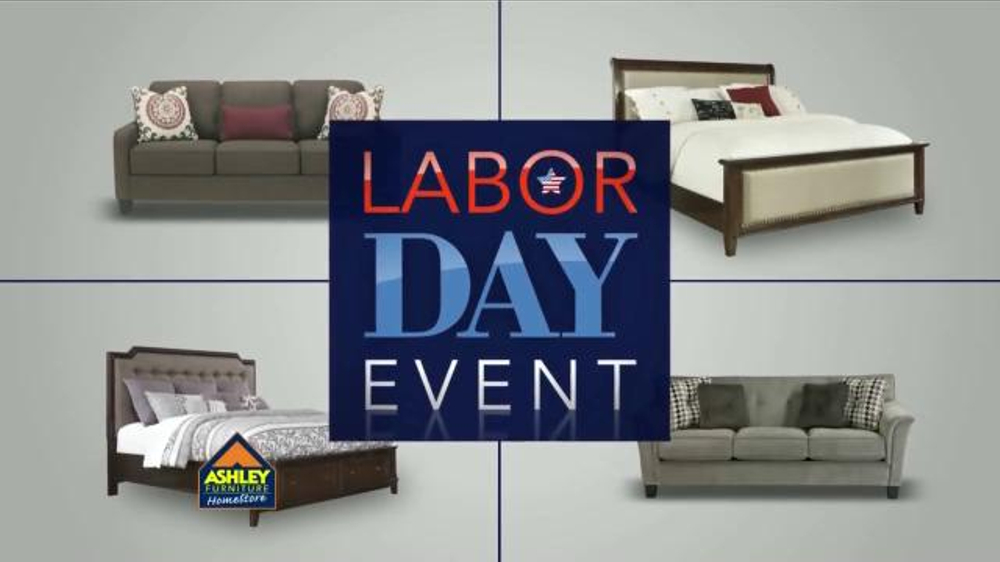 ashley furniture homestore labor day event commercial televisivo