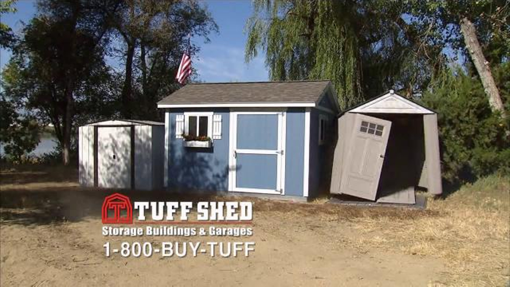 Tuff shed tv commercial 39 blow away 39 for Tough shed sale