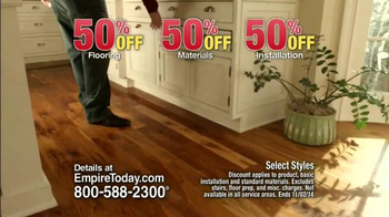 Empire Today 50/50/50 Sale TV Spot, 'Free In-Home Estimate'
