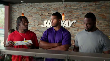 Subway TV Spot, 'Training the Rookie' Feat. Robert Griffin III, Justin Tuck - 17 commercial airings