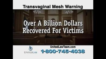 United Law TV Spot, 'Transvaginal Mesh Warning' - Thumbnail 10