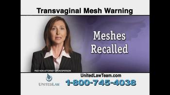 United Law TV Spot, 'Transvaginal Mesh Warning' - Thumbnail 3