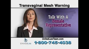 United Law TV Spot, 'Transvaginal Mesh Warning' - Thumbnail 7