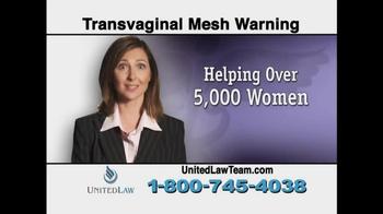 United Law TV Spot, 'Transvaginal Mesh Warning' - Thumbnail 8