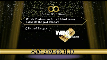 Capital Gold Group TV Spot, 'One-ounce Gold Bar' - Thumbnail 5
