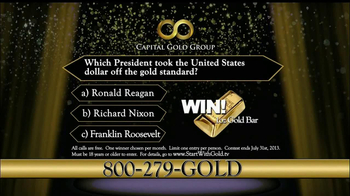 Capital Gold Group TV Spot, 'One-ounce Gold Bar' - Thumbnail 9