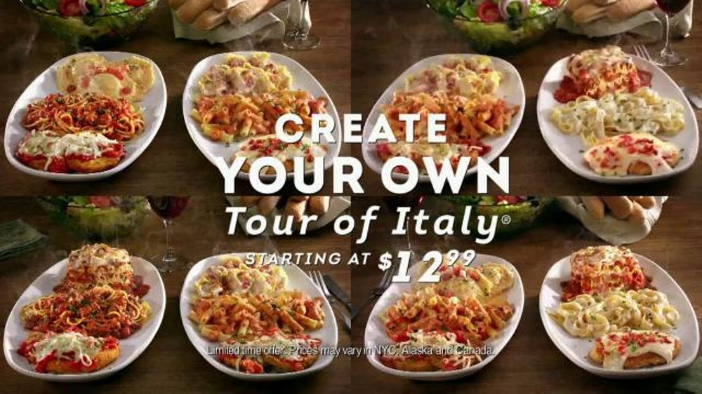 Garden Design Your Own olive garden create your own tour of italy tv commercial, 'a first