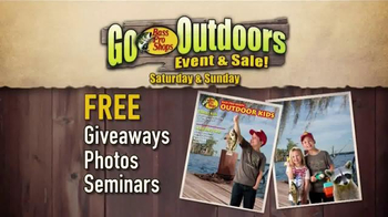 Bass Pro Shops Go Outdoors Event & Sale TV Spot, 'Giveaways and Seminars'