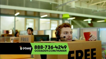 GoDaddy TV Spot, 'Free Human'