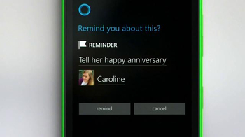 Microsoft Windows Phone TV Spot, 'Siri vs. Cortana: Happy Anniversary' - Thumbnail 3