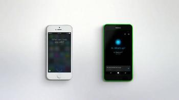 Microsoft Windows Phone TV Spot, 'Siri vs. Cortana: Happy Anniversary' - Thumbnail 4