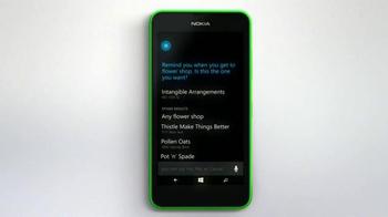 Microsoft Windows Phone TV Spot, 'Siri vs. Cortana: Happy Anniversary' - Thumbnail 5