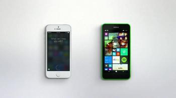 Microsoft Windows Phone TV Spot, 'Siri vs. Cortana: Happy Anniversary' - Thumbnail 7