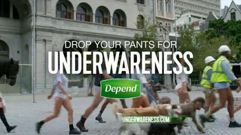 Depend TV Spot, 'Drop Your Pants for Depend Underwareness'