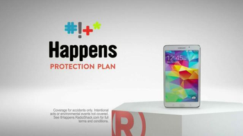 Radio Shack Protection Plan TV Spot, \'Free Screen Protector & Installation\'