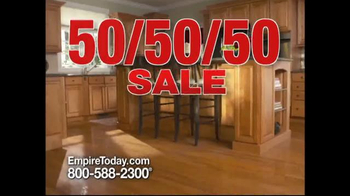 Empire Today 50/50/50 Sale TV Spot