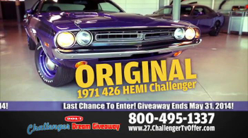 2014 Challenger Dream Giveaway TV Spot - Thumbnail 8