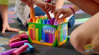 Crayola Washable Sidewalk Chalk TV Spot, 'Outdoor Colorful Beats'