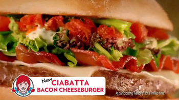 Wendy's Ciabatta Bacon Cheeseburger TV Spot - 4120 commercial airings