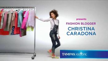 Tampax Radiant TV Spot, 'Wardrobe' Featuring Christina Caradona