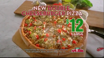 Papa John\'s Double Cheeseburger Pizza TV Spot
