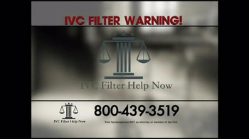 Pulaski Law Firm >> IVC Filter Help Now TV Commercial, 'IVC Moved' - iSpot.tv