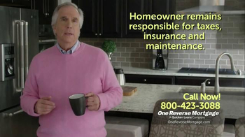 One Reverse Mortgage TV Spot, 'Retire With Savings' Featuring Henry Winkler