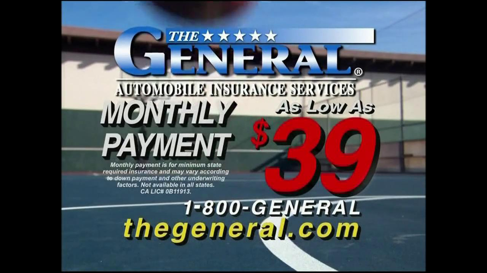 Roadside Assistance Progressive >> The General TV Commercial, 'Slam Dunk' - iSpot.tv