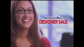 America's Best Contacts and Eyeglasses TV Spot For  Designer Sale - Thumbnail 1