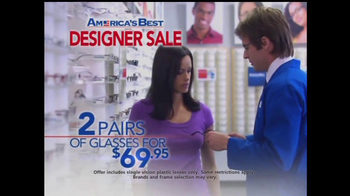 America's Best Contacts and Eyeglasses TV Spot For  Designer Sale - Thumbnail 6