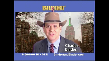 Binder and Binder TV Spot For Binder and Binder Featuring Charles Binder