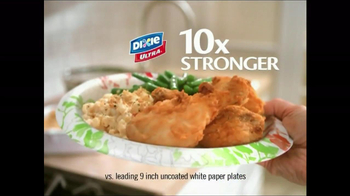 Dixie TV Spot For Dixie Ultra Plates