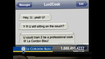 Le Cordon Bleu TV Spot For Text Message To Cook