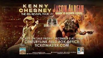 Kenny Chesney The Big Revival Tour, Jason Aldean Burn It Down Tour TV Spot - 3 commercial airings