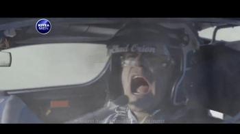 Nivea Men Sensitive Shaving Gel TV Spot, 'Car Race Shave Irritation'