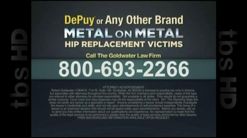 GoldWater Law Firm TV Spot For Hip Repalcement - Thumbnail 7