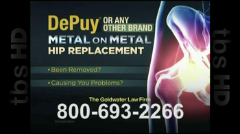 GoldWater Law Firm TV Spot For Hip Repalcement - Thumbnail 2