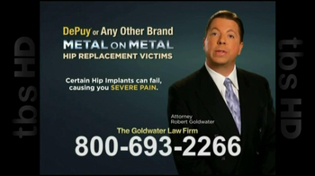GoldWater Law Firm TV Spot For Hip Repalcement - Thumbnail 3
