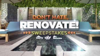 Don't Hate Renovate Sweepstakes TV Spot