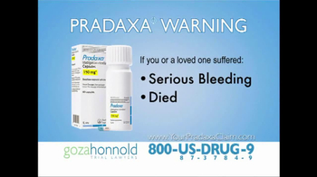 Goza Honnold Trial Lawyers TV, 'Pradaxa Call Center'