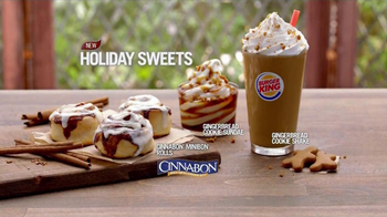 Burger King Cinnabon Minibon Rolls and Ginbread Cookie Treats TV Spot