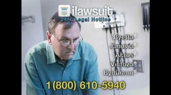 iLawsuit Legal Hotline TV Spot, 'Diabetic Patients'